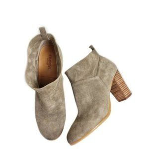 Crown Vintage Rita Tan Suede Slip-On Booties 9.5M